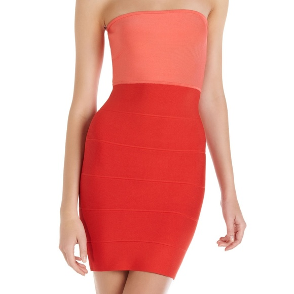 BCBGMaxAzria Dresses & Skirts - NWOT BCBG Alyona coral dress